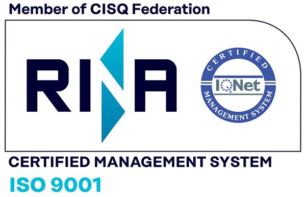Lo Studio Canepa è certificato ISO 9001.